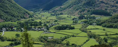 Borrowdale in the English Lake District, seen from Castle Crag. © Andrew Sier. Image available under licence to NERC – Centre for Ecology & Hydrology